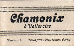 Couverture Seule Carnet De Cartes Postales CHAMONIX A VALLORCINE  (87820) - Afiches