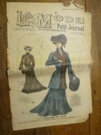 1902 La MODE Du Petit Journal TOILETTES DE VILLE ,grav Couleurs  1ere Page - Vintage Clothes & Linen