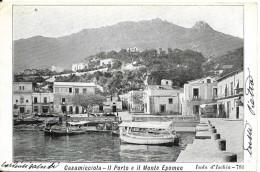 Campania-napoli- Ischia Casamicciola Il Porto E Il Monte Epomeo Veduta  Primi 900 - Italia