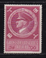 DEUTSCHES REICH, 1944, Unused (no Glue) Stamp(s), Birthday Hitler, MI 887, #16195 , - Unused Stamps