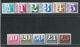 GRAN BRETAGNA - 1970-73 - SEGNATASSE - 11 VALORI NUOVI STL - NUOVO TIPO - IN OTTIME CONDIZIONI. - Tasse