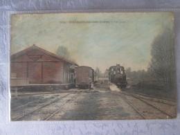 CHATILLON COLIGNY . LA GARE AVEC TRAIN . USURES - Chatillon Coligny