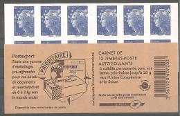 CARNET N°592 C2 / MARIANNE DE BEAUJARD BLEU EUROPE COUVERTURE N°2( Avant Ciappa) - Carnets