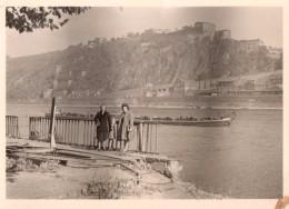 Photo Originale Allemagne Occupée En 09.1947 - Péniches Sur Le Rhin Et Funiculaire Sur Koblence - Koblenz - 56001 - Guerre, Militaire