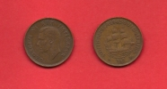 SOUTH AFRICA, 1943,  Circulated Coin, 1/2 Penny, George VI, Km 24, C1398 - South Africa