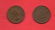 SOUTH AFRICA, 1960,  Circulated Coin, 1/4 Pence,  Elizabeth II, Bronze, Km44  C 1391 - Zuid-Afrika