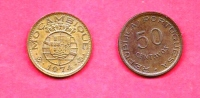 MOZAMBIQUE 1974 ,circulated Coin , 50 Centavos, Bronze, Km89, C1680 - Mozambico