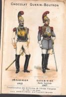 LOT DE 2 CHROMOS - CHOCOLAT GUERIN BOUTRON  Carabinier - Amiral - Guerin Boutron