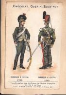 LOT DE 2 CHROMOS - CHOCOLAT GUERIN BOUTRON  Chasseur à Cheval / CHROMO Danses Des Soldats Turcs - Guerin Boutron