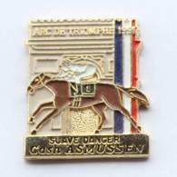 Pin´s  PMU - Tiércé - PRIX DE L´ARC DE TRIOMPHE - Cheval SUave Dancer Et Son Jockey  C. ASMUSSEN - First -  F425 - Games