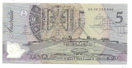 Australia 5 Dollars 1992 AA00 XF+ - 1992-2001 (Polymer)