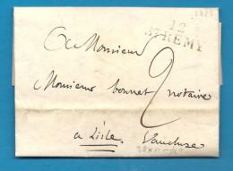 Bouches Du Rhone - St Remy Pour L'isle Sur La Sorgue (Vaucluse). LAC De 1825 écrite Au Chateau De Montblanc - Postmark Collection (Covers)