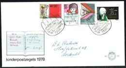 Jaar 1978 - FDC N° 170 -  Y/T N° 1099/1102 - Kinderzegels - Au Profit De L´enfance. - FDC