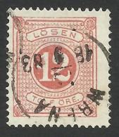 Sweden, 12 O. 1877, Sc # J5, Mi # 5A, Used. - Postage Due