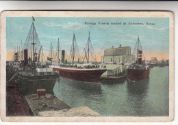 Foreign Vessels Docked At Galveston, Texas, Oceanliner, Oceanliners (pk29985) - Galveston