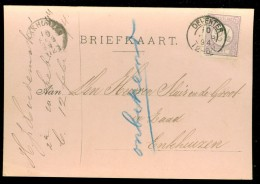 HANDGESCHREVEN BRIEFKAART Uit 1894  GELOPEN Van KLEINRONDSTEMPEL DEVENTER  Naar ENKHUIZEN * NVPH 33  (10.453c) - Periode 1891-1948 (Wilhelmina)