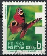 Pologne 2013 Oblitéré Rond Used Butterfly Papillon Aglais Io Paon Du Jour - Gebraucht