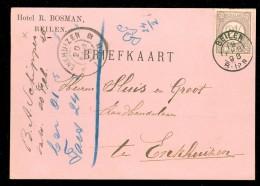 HANDGESCHREVEN BRIEFKAART Uit 1898  GELOPEN Van KLEINRONDSTEMPEL BEILEN Naar  ENKHUIZEN * NVPH 33  (10.453o) - Period 1891-1948 (Wilhelmina)
