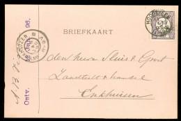 HANDGESCHREVEN BRIEFKAART Uit 1896  GELOPEN Van KLEINRONDSTEMPEL HOOGEVEEN Naar ENKHUIZEN * NVPH 33  (10.453q) - Periode 1891-1948 (Wilhelmina)