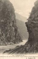 Cpa Gorges Du Var Chemin De Fer Du Sud De La France Ligne De Nice à Puget Théniers - France