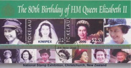 Tokelau Block Mi 36 80th Birthday Of Queen Elizabeth II 2006 National Stamp Exhibition Christchurch - KIWIPEX - Tokelau