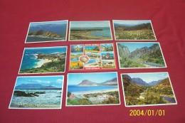 LOT DE 9 CARTES  REPUBLIC SOUTH AFRICA TOUTES VOYAGES  AVEC DESTINATION DIVERSE - Cartes Postales
