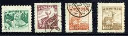 1954  New Definitives  Sc 196-9  Used - Korea, South