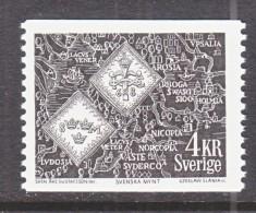 SWEDEN   754    **     COIN   MAP - Sweden