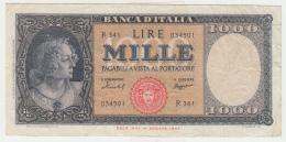 Italy 1000 Lire 1959 VF+ Banknote Pick 88c  88 C - [ 2] 1946-… : République