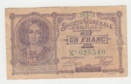 "Belgium BELGIQUE 1 Franc 1917 ""F"" Pick 86b  86 B - [ 2] 1831-... : Royaume De Belgique"