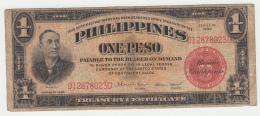 "Philippines 1 Peso 1936 ""F"" Banknote Pick 81 - Philippines"