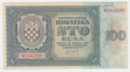 Croatia 100 Kuna 1941 VF+ Pick 2 - Croatia
