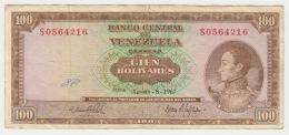 Venezuela 100 Bolivares 1967 VF Pick 48e  48 E - Venezuela