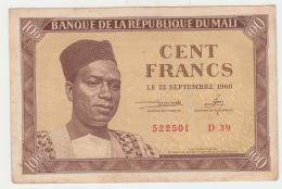 Mali 100 Francs 1960 XF+ Pick 2 - Mali