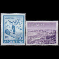 ARGENTINA 1961 - Scott# 704-5 Ski Jumper 100-300p MNH - Argentine