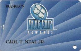 Blue Chip Casino Michigan City, IN - 1st Issue Slot Card - @1997 Blue Chip Casino, LLC - Casino Cards