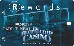 Blue Chip Casino Michigan City, IN - Slot Card - CPICA 24903 Over Mag Stripe - Casino Cards