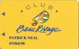 Beau Rivage Casino Biloxi MS - Slot Card - No Text Over Mag Stripe - Casino Cards