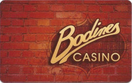 Bodines Casino Carson City, NV - 2nd Issue Slot Card - 9mm Mag Stripe  (BLANK) - Casino Cards