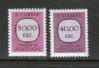 PORTUGAL 1984 TAXES  YVERT   N°84/85  NEUF MNH** - Port Dû (Taxe)