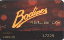 Bodines Casino Carson City, NV - 3rd Issue Slot Card - Normal Printing - Casino Cards