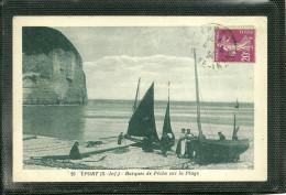 76  YPORT - BARQUES DE PECHE SUR LA PLAGE (ref 24637) - Yport