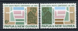 Papua Nueva Guinea 1965. Yvert 78-79 ** MNH. - Papua Nuova Guinea