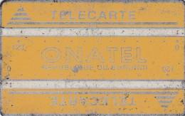 Burundi,  BUR-4, 120 Units, Onatel, Yellow - Logo, 2 Scans.   CN : 001B.  Please Read - Burundi