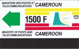 Cameroon,  CAM-07, 1500 Un F, Definitive Card, No Notch, 2 Scans.