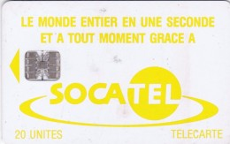Central African Republic, CAR-20, Yellow Logo - Telephone Tarifs, 2 Scans.   Please Read - Centraal-Afrikaanse Republiek