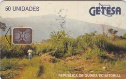 Equatorial Guinea, EQG-05-A?, 50units, Landscape (Grey-Blue Rev.) Batch C4C, 2 Scans. - Equatorial Guinea