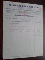 K. WAGENAAR Gz Aardappelen & Verse Groenten BROEK Op LANGENDIJK (Factuur) Anno 1934 ( Details Zie Foto´s ) ! - Netherlands