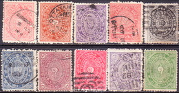 INDIA TRAVANCORE 1904-20 SG #9//18 Part Set Used Wmk B Upright Or Inverted - Travancore