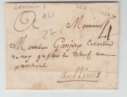 """LETTRE De SAINT HIPPOLYTE (GARD) Avec MP LENAIN 3 """"DE SAINT HIPOLITE"""" - 1701-1800: Precursors XVIII"""